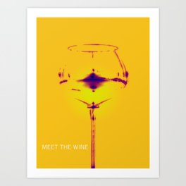 Meet The Wine Art Print