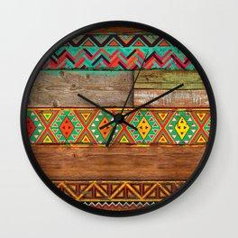 Indian Wood Wall Clock