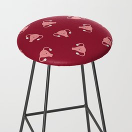 Crazy Happy Uterus in Red, Large Bar Stool