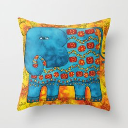 Patterned Elephant Throw Pillow