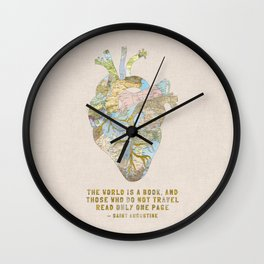 A Traveler's Heart + Quote Wall Clock