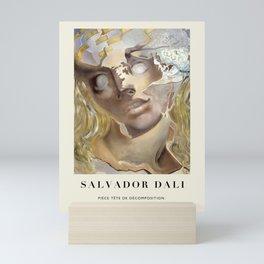 Poster-Salvador Dali-Piece decomposition head. Mini Art Print