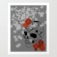 sugar skull Art Prints featuring Sugar Skull by Tanya Thomas