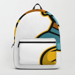 African American Construction Worker Mascot Backpack