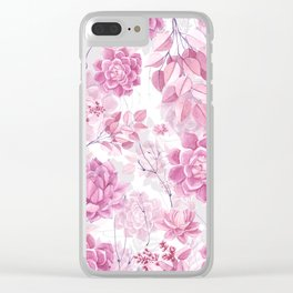 PINK SUCCULENTS #society6 Clear iPhone Case