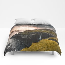view of gasadalur at faroe Comforters