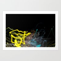Night Road 3 Art Print