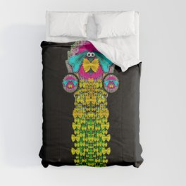Love me give me a home indoors popart Comforters