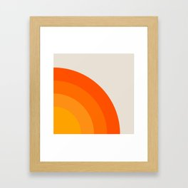 Sunrise Rainbow - Right Side Framed Art Print