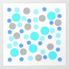 Blue cute dots Art Print