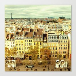 Paris - Skyline from the Pompidou Canvas Print