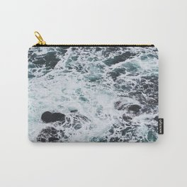 OCEAN - ROCKS - FOAM - SEA - PHOTOGRAPHY - NATURE Carry-All Pouch