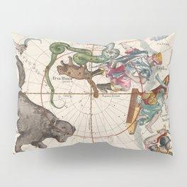 Vintage Star Atlas - Constellation Map Pillow Sham