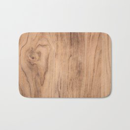 Brown wood pattern Bath Mat