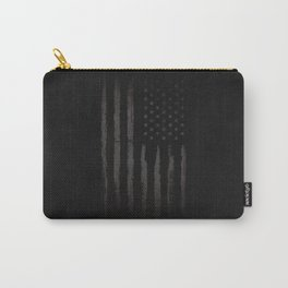 Black American flag Carry-All Pouch