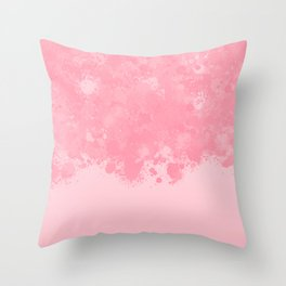 paint splatter on gradient pattern pw Throw Pillow
