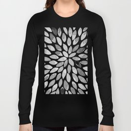 Watercolor brush strokes - black and white Long Sleeve T-shirt