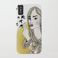agnes cecile iPhone & iPod Cases featuring Agnes in color by Filippa Ekmark
