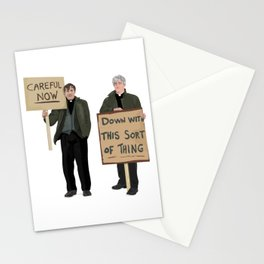 """""""DOWN WITH THIS SORT OF THING!..careful now"""" Stationery Cards"""