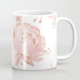 Roses Rose Gold Glitter Pink by Nature Magick Coffee Mug