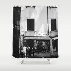 Window shopping in Venice Shower Curtain