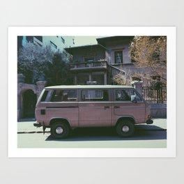 Van in spring Art Print