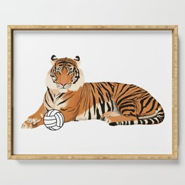 Volleyball Tiger Serving Tray