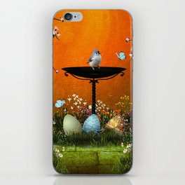 Easter eggs in the grass iPhone Skin