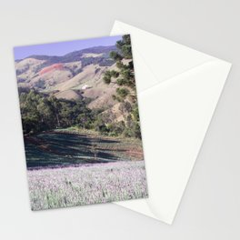 Lavenders and mountains Stationery Cards