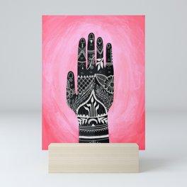 Mehndi Hand Painting Mini Art Print