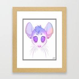 Pastel rodent Framed Art Print