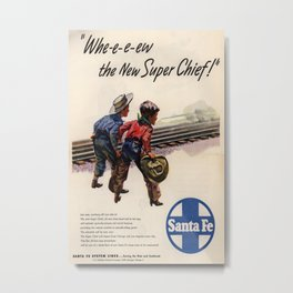Vintage poster - Super Chief Metal Print