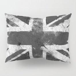 Black and white England Grunge flag Pillow Sham
