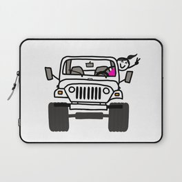Jeep Wave White - Girl Laptop Sleeve
