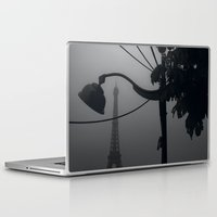 eiffel tower Laptop & iPad Skins featuring Eiffel Tower by brandonbarron