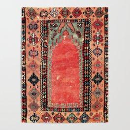 Sivas  Antique Cappadocian Turkish Niche Kilim Poster