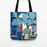 back to the future Tote Bags featuring Back to the Future by Ale Giorgini