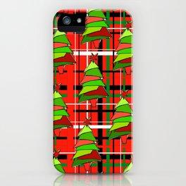 Plaid Trees iPhone Case