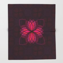 pink mandala Throw Blanket