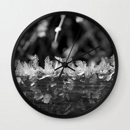 Ice textures Wall Clock