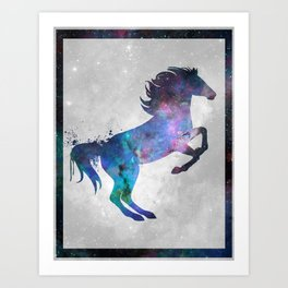 Galaxy Series (Horse) Art Print