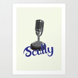 Vin Scully Mic Art Print