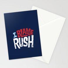 I Blame Rush Stationery Cards