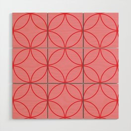 Moorish Circles - Pink & Red Wood Wall Art
