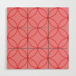 Moorish Circles - Pink & Red Wood Wall Art