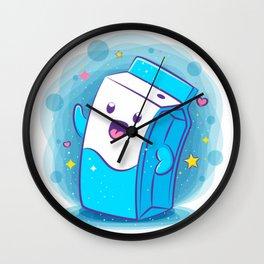 Kawaii Milk Wall Clock