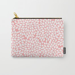 White Floral Pattern on Coral - Mix & Match with Simplicity of Life Carry-All Pouch