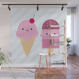 Summer Ice Cream Treats Wall Mural