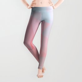 Sunrise Clouds Low Poly Leggings