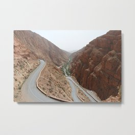 Todgha Gorge in the south of the High Atlas in Morocco Metal Print